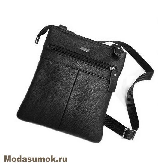 a059d2e85d2c Мужская сумка через плечо из натуральной кожи BB1 940082 чёрная ...
