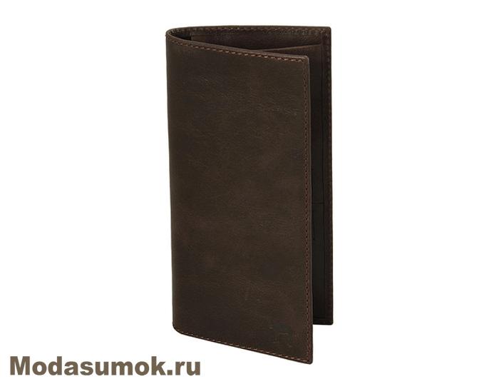 d03f09a9cefd Портмоне мужское вертикальное из натуральной кожи Dimanche 637 коричневое
