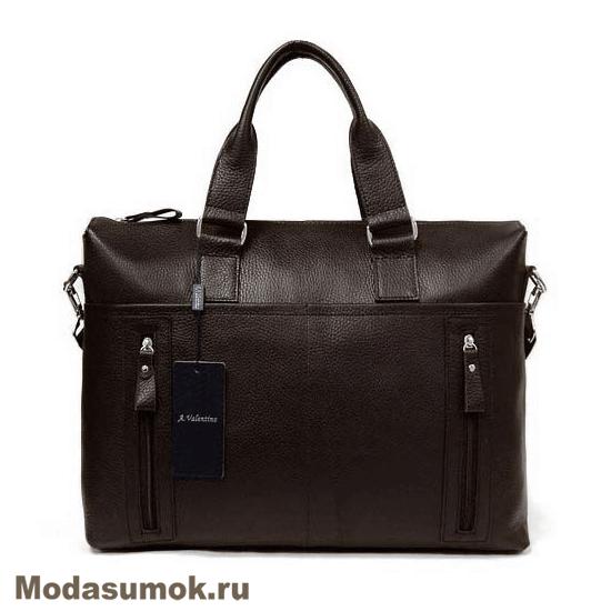 70300ce38d00 Сумка - портфель мужская из натуральной кожи A.Valentino 363 коричневая